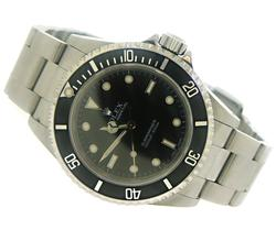 Rolex Submariner Black Bezel on Oyster Bracelet watch