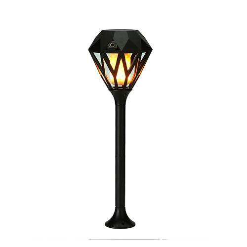 Diamond Shaped Solar LED Flickering Flame Torch Light