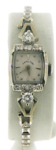 Vintage Ladies Hamilton Watch with Diamonds