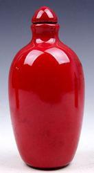 Monochrome Red Glazed Porcelain Snuff Bottle