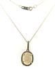 Amazing Opal and Diamond Pendant Necklace