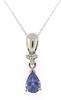 Fancy Tanzanite and Diamond Necklace
