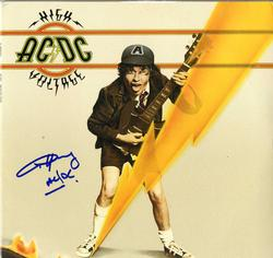 Angus Young ACDC Autographed High Voltage Album Cover