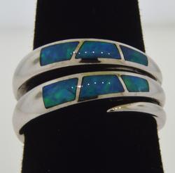 14K White Gold Opal Ring