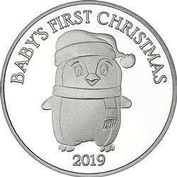 2019 1oz Baby's First Christmas Silver Round