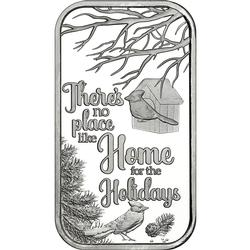 2019 1oz No Place Like Home Christmas Silver Bar
