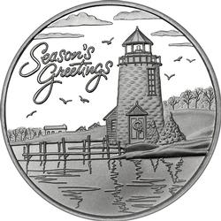 2019 1oz Season's Greetings Silver Round