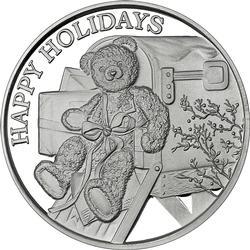 2019 1oz Teddy Bear Christmas Silver Round