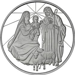 2019 1oz Nativity Scene Christmas Silver Round
