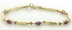 Nice Oval Cut Ruby Bracelet