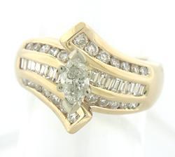 Beautiful Marquise Diamond Engagement Ring