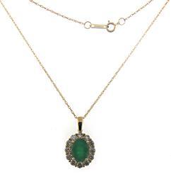 Fantastic Emerald and Diamond Pendant Necklace