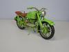 Metal Material Green Motorcycle Sculpture