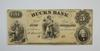 1800s $5 State of Tennessee Bucks Bank Note - Unsigned