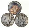 Lot (3) 1934-D Peace Silver Dollars - Beautiful Tone