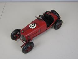 Red Sport Car Metal Sculpture