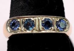 Heavy 4-Stone Tanzanite Ring