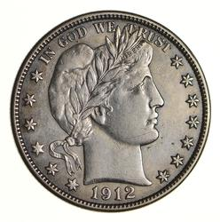 1912-D Barber Half Dollar - Near Uncirculated