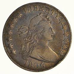 1806/9 Draped Bust Half Dollar - Heraldic Eagle Reverse - Circulated