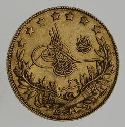 1880 (1293) Turkey Gold Kurush - Circulated