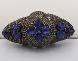13+ CTTW Sapphire & Diamond Ring