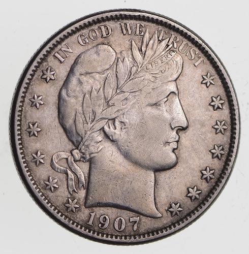 1907-O Barber Half Dollar - Near Uncirculated