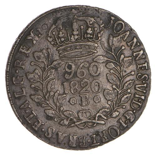 1820 Brazil 960 Reis - Circulated