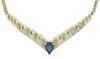 Pretty Blue Sapphire and Diamond Necklace