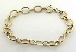 Fancy Circle Link Bracelet in Yellow Gold
