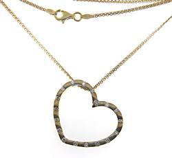 Elegant 18kt Diamond Heart Necklace