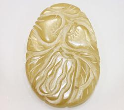 Natural Hand-Carved Serpentine Pendant