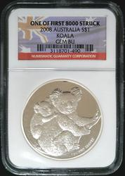 Certified 2008 Australia Koala NGC GEM BU