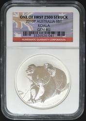 Certified 2010 Australia Koala NGC GEM BU