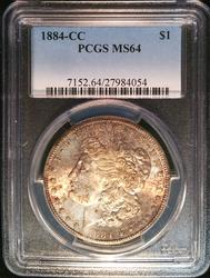 Certified 1884-CC Morgan Dollar PCGS MS64