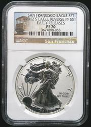 Certified 2012 S Reverse Proof Silver Eagle NGC PF70