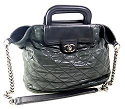 Chanel Large Zip Shopping Tote Bag