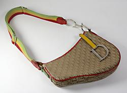 Christian Dior Trotter Saddle Shoulder Bag Rasta Color