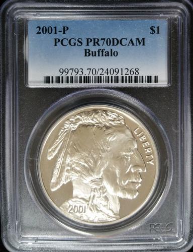 Certified 2001 Buffalo PCGS PF70