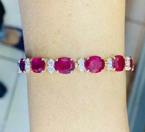Gorgeous 14kt Gold Natural Ruby Bracelet