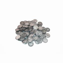 90% Silver Mercury Dimes 100 pcs.