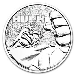 2019 Tuvalu 1oz Silver $1 Marvel Hulk Coin