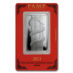 PAMP Suisse Silver Bar 1oz 2013 Snake Design