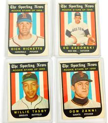 4 Topps Rookie Stars of 1959 Baseball Cards