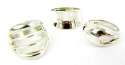 3 Wide Sterling Silver Rings