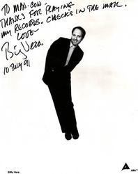 Billy Vera Autographed Signed Promo Photo AFTAL