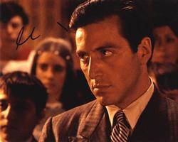Al Pacino Autographed Michael Carleone 8×10 Photo