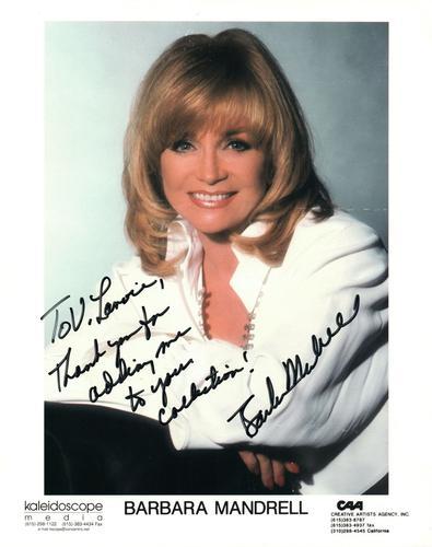 Barbara Mandrell Autographed Signed 8×10 Photo