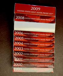 11 Silver Proof Sets 1999-2009 All State & Territory