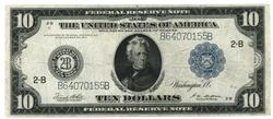 Nicer 1914 Series Large Size $10 Federal Reserve Note