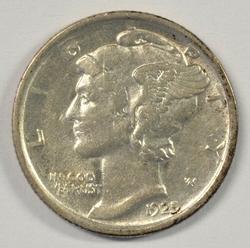 Scarce near Mint 1925-D Mercury Dime